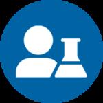 icon blue - scientist