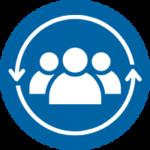 icon blue - teamwork
